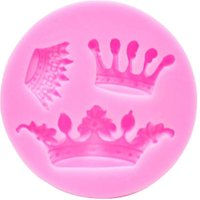 3D Crown Silicone Fondant Mould Queen Cupcake Cake Decorating Baking Tools