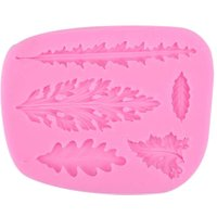 3D Leaves Silicone Fondant Cake Mold DIY Cookies Baking Mould Decorate Tool