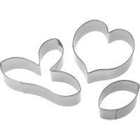 3Pcs Flower Metal Cookie Cutter Set Stainless Steel Cake Mold Fondant Cake DIY Decorating Tools Cupcake Kitchen Baking Tools