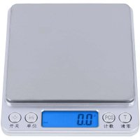 3kg/0.1g 500g/0.01g Digital Scale Pocket Electronic Jewelry Weight Scale Kitchen Food Baking Scale Aluminum Alloy Platform