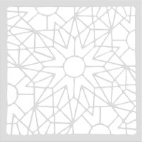 Creative DIY Geometry Cake Baking Coffee Stencils Scrapbooking Templates