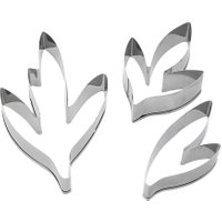 Peony Flower Leaves Cake Cutter Mold Stainless Steel Cookie Cutter Set Fondant Cake Decorating Tools Cupcake Baking Tools PTSP